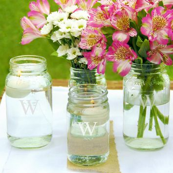 Personalized Mason Jar Vase Collection (Set of 4)