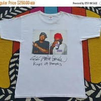 25% March Sale Authentic SUPREME Three Six Mafia Tee BOX LOGO Og Nyc L/M White T Shirt