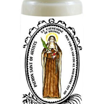 Saint Catherine of Bologna Patron of Artists 8 Ounce Scented Soy Prayer Candle
