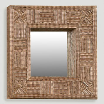 Mosaic Coco Stick Square Mirror - World Market