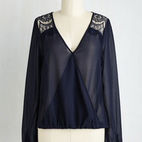 Short Length Long Sleeve Airy Allure Top