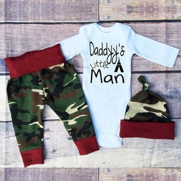 2017 new bebes Baby Girls Boys Christmas Clothes Long Sleeve Romper Top+Pant+Hat Toddler Kids Daddy Little Man Clothing Set