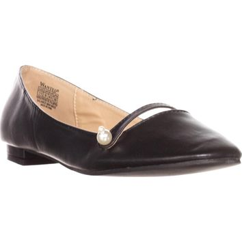 Wanted Mari Mary Jane Ballet Flats, Black, 11 US / 43 EU