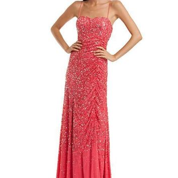 JS Collections - Sequined Sweetheart Dress 864322