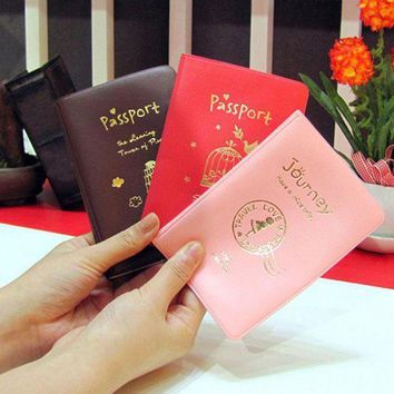 CREYCI7 2017 hot selling 1pc Fashion New Passport Holder Documents Bag Sweet Trojan Travel Passport Cover Card Case