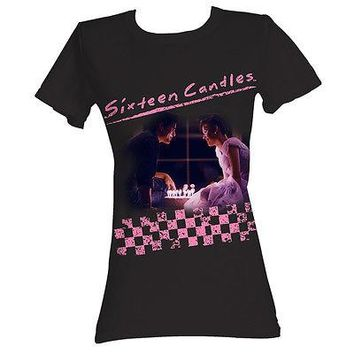 16 Sixteen Candles Birthday Cake Movie Funny Womens Cotton Fitted T Shirt