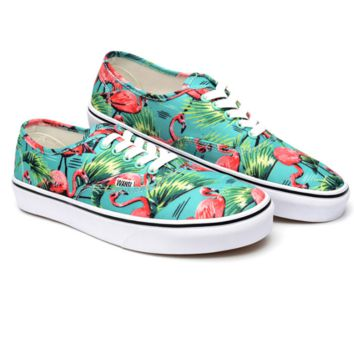 """Vans"" Casual Classic Shoes Retro  low tops Shoes Crane print"