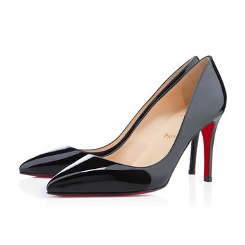 Best Online Sale Christian Louboutin Cl Pigalle Black Patent Leather 85mm Stiletto Heel Classic