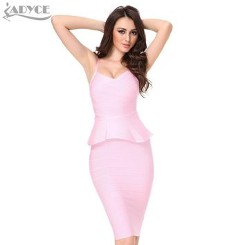 2 two piece set Women Bandage Dress White red Black khaki Knee-length Club Sexy Bodycon Dress Celebrity Party Dresses