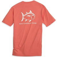 Weathered Skipjack Tee Shirt in Nautical Orange by Southern Tide