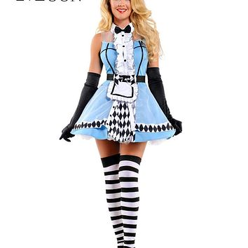 MOONIGHT Sexy Alice In Wonderland, Blue Deluxe Cosplay Halloween Costume, Fancy Lolita Dress Macchar Cosplay Catalogue