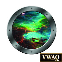 Porthole Wall Decals Graphics Portal Window  Boys Room Fun Kids Galaxy Stars PS3