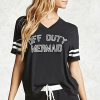 Off Duty Mermaid Graphic PJ Set