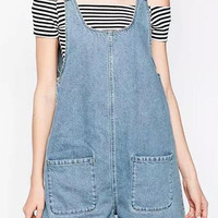Light Blue Denim Rompers