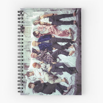 'BTS- Wings' Spiral Notebook by Satanscookiecat