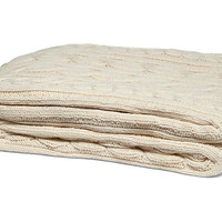 Fisherman Cable Cotton Throw, Natural - Pillows & Throws - Holiday Decor - Holiday | One Kings Lane