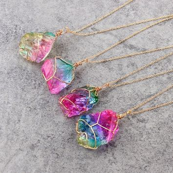 Handmade Crystal Quartz Necklaces
