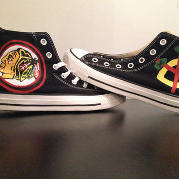 Chicago Blackhawks High Top Converse