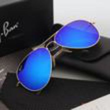 ESBON Ray Ban Aviator Sunglasses Blue Flash/Gold Frame RB3025 112/68F 58mm