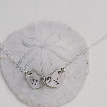 Personalized Alphabet Letter Necklace (2 Letters) Made On Hatch.co by Sora Designs