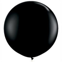 "Five Baby Gender reveal confetti balloon. 24"" Black balloons with confetti."