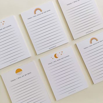 Polished Prints | Affirmation Notepad Sets