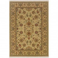 Couristan Traditional Taj Mahal Tabriz Autumn Wheat Oriental Rug - 7386/9348 - Wool Rugs - Area Rugs by Material - Area Rugs