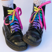Rainbow Shoe LacesExtra Long by colourbazaar on Etsy