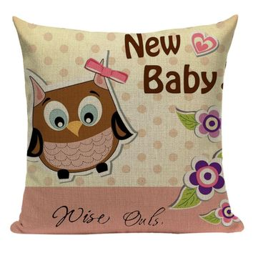 Owl New Baby Pillow O1