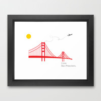 San Francisco.  Framed Art Print by Irmak Berktas