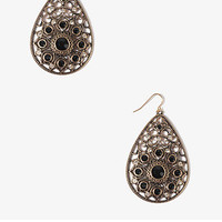 Sparkling Filigree Teardrop Earrings