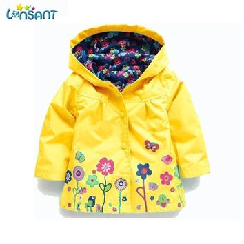 LL LONSANT Waterproof Raincoat for Kids 1-6yrs
