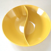 Melmac Divided Bowl In Mustard Mid Century by KimBuilt on Etsy