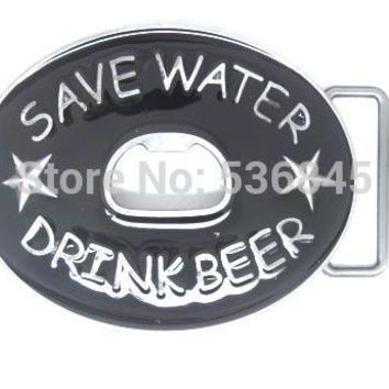 Save Water Drink Beer Bottle Opener Funny Belt Buckle