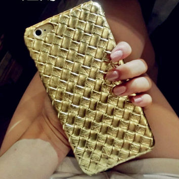 Unique Weave Leather iPhone 5s 6 6s Plus Case Super Light Cover Gift-166