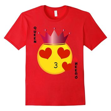 Valentines Day TShirt Emoji Queen Of Hearts Couples Shirt