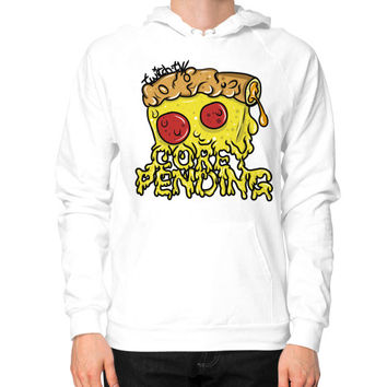 Official CoreyPending Twitch Shirt (LARGE GRAPHIC) Hoodie (on man)