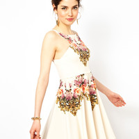 Ginger Fizz | Ginger Fizz Prom Dress In From Paris With Love Print at ASOS