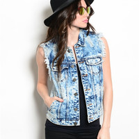 Iskander Denim Vest - Dark