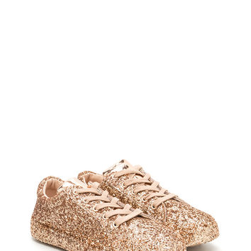 Sparkler Status Glitter Lace-Up Sneakers GoJane.com