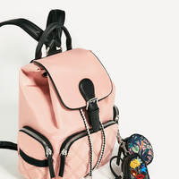 TECHNICAL FABRIC BACKPACK WITH PENDANT - View all-BAGS-WOMAN | ZARA United States