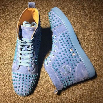 PEAPUX5 Cl Christian Louboutin Louis Spikes Style #1900 Sneakers Fashion Shoes