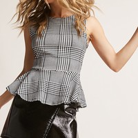 ETA Glen Plaid Peplum Top