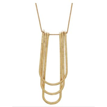 Gold Geometric U Shaped Necklace