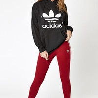 adidas Black Trefoil Crew Neck Sweatshirt at PacSun.com