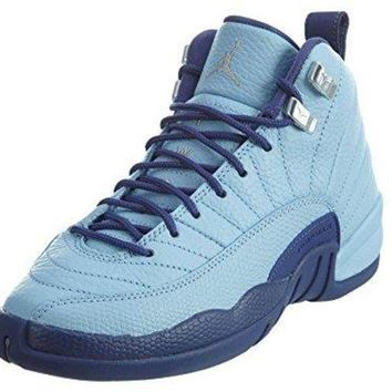 JORDAN AIR 12 Retro GG Kid's BlueCap/Metallic Silver