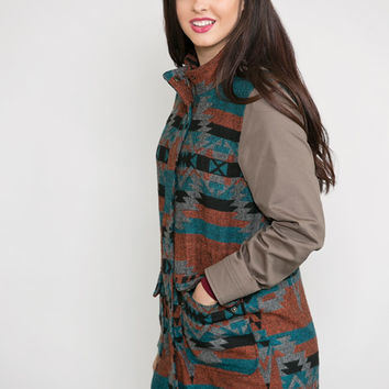 Tribal Revival Hooded Coat