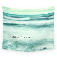 Society6 Summer Dreams At The Sea Wall Tapestry