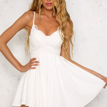 Out Of Your League Dress White
