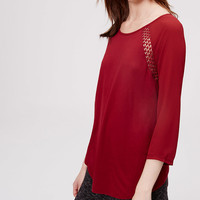 Lacy Relaxed Top | LOFT
